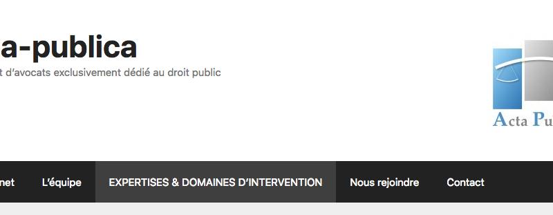Un nouveau site internet en ligne dédié au droit public.